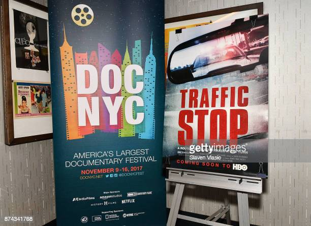 A view of the 'Traffic Stop' movie poster at DOC NYC Premiere of the HBO documentary film 'Traffic Stop' at IFC Center on November 14 2017 in New...