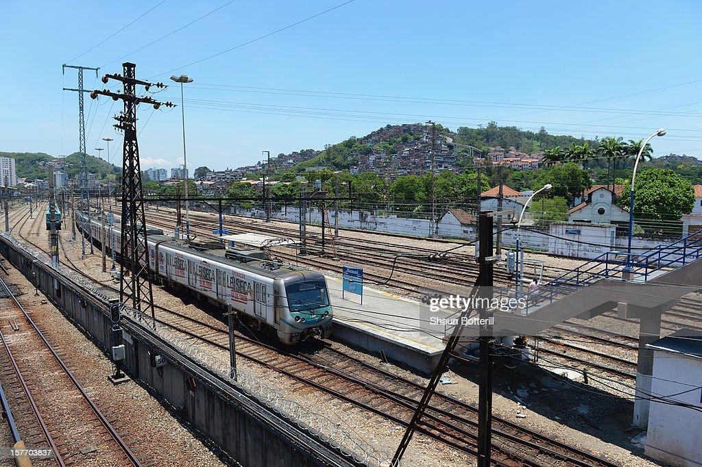 A view of the train station at the Maracana Stadium, venue for the FIFA 2014 World Cup Fina on December 5, 2012 in Rio de Janeiro, Brazil.