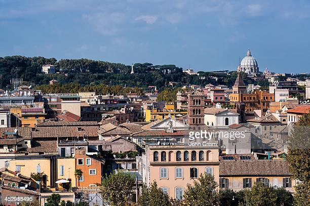 View of the Trastevere area architecture
