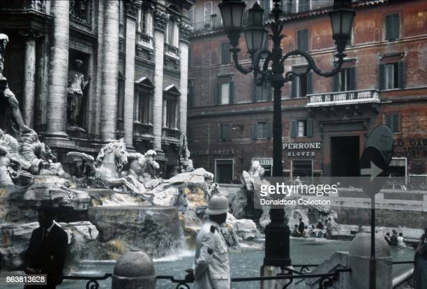 A view of the Trevi Fountain on September 19 1963 in Rome Italy