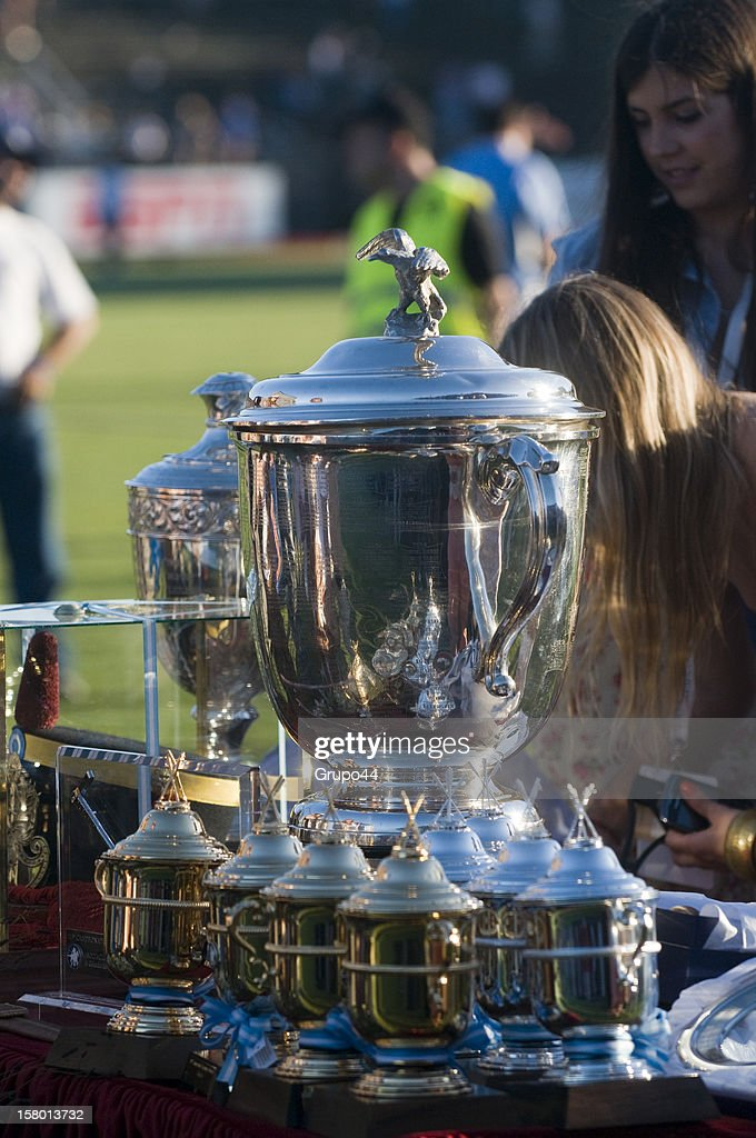 View of the trophies of the 119th Argentina Open Polo Championship Final on December 08, 2012 in Buenos Aires, Argentina.