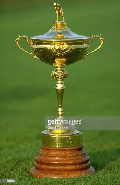View of the trophy during the Ryder Cup at Kiawah Island in South Carolina USA The USA team won the event with a score of 145135 Mandatory Credit...
