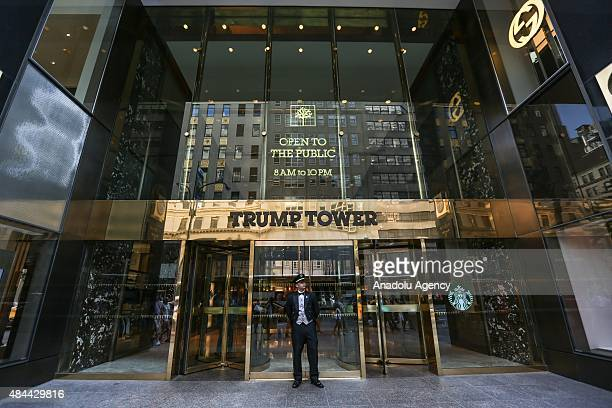 View of the Trump Tower building seen in New York NY on August 18 2015 According to local newspapers Real Madrid soccer superstar Cristiano Ronaldo...