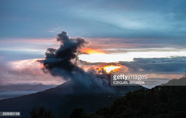 View of the Turrialba volcano on May 20 in Cartago Costa Rica as it entered intense eruptive activity The Turrialba volcano started erupting columns...