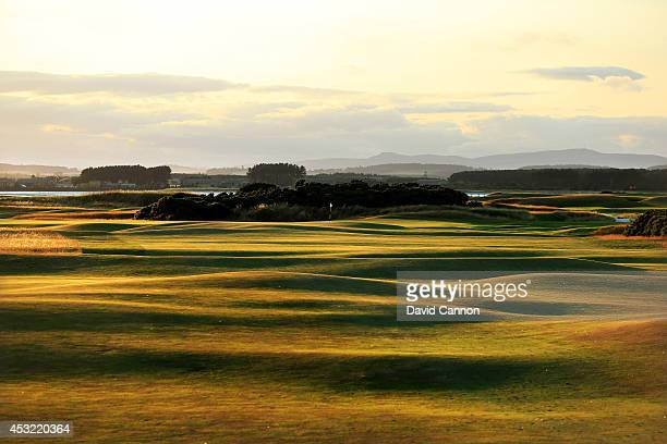 A view of the undulating fairway in the evening shadows on the 412 yards par 4 6th hole 'Heatherly Out' on the Old Course at St Andrews venue for The...