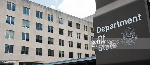 A view of the US Department of State is seen July 31 where President Obama will host African Leaders August 462014 in Washington DC for the USAfrica...