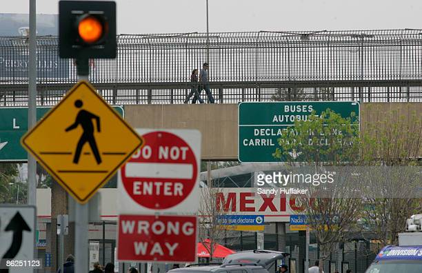 View of the US Mexico Port of Entry on April 27 2009 in San Ysidro California US Health officials advises Americans to avoid all nonessential travel...