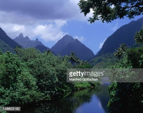 View of the Vaitephitha River. : Stock Photo