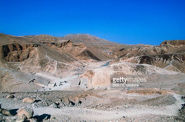 View of the Valley of the Kings Luxor Thebes Egypt Egyptian civilisation New Kingdom Dynasty XVIII