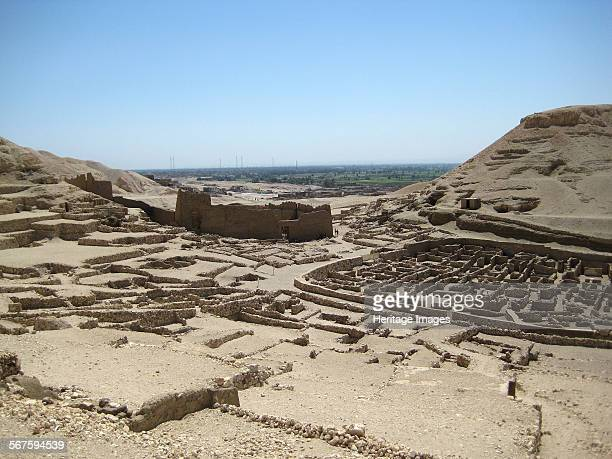 View of the Valley of the Kings on the west bank of the River Nile the burial place of Pharaohs and powerful nobles of the New Kingdom Country of...