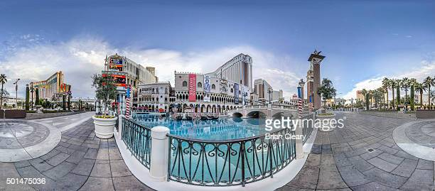A 360 view of the Venetian Casino on the Las Vegas strip early morning December 4 2015