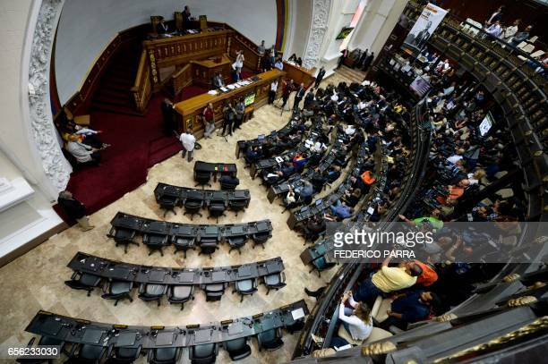 View of the Venezuelan National Assembly during the discussion for the activation of the Organization of American States InterAmerican Democratic...