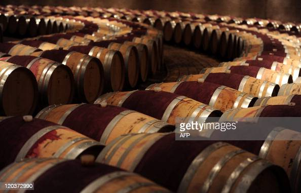 View of the vineyard at the Catena Zapata winery in Lujan de Cuyo province of Mendoza Argentina on July 14 2011 Argentina's wine route covering...