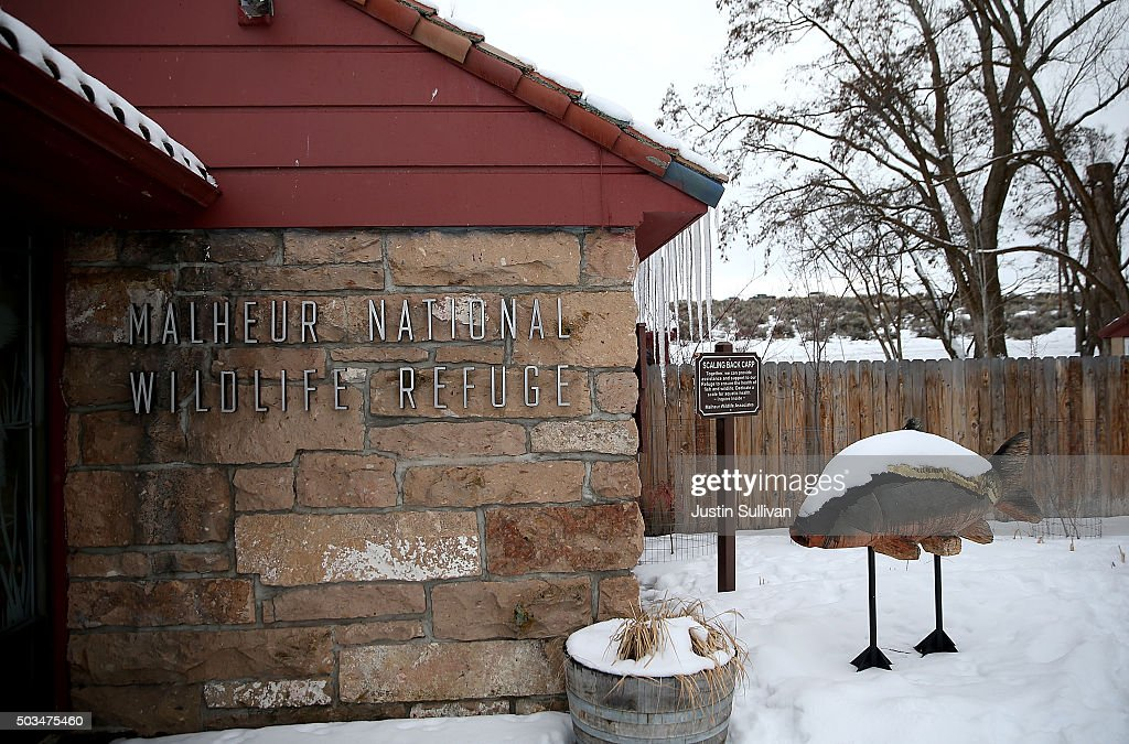 A view of the visitor center at the Malheur National Wildlife Refuge Headquarters on January 5 2016 near Burns Oregon An armed antigovernment militia...