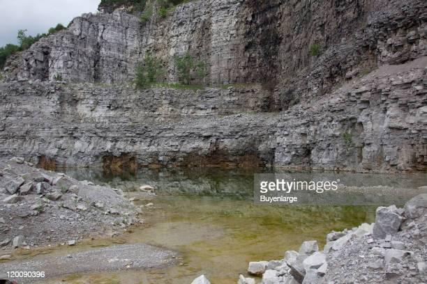 View of the Vulcan Materials Company limestone quarry Tuscumbia Alabama 2010