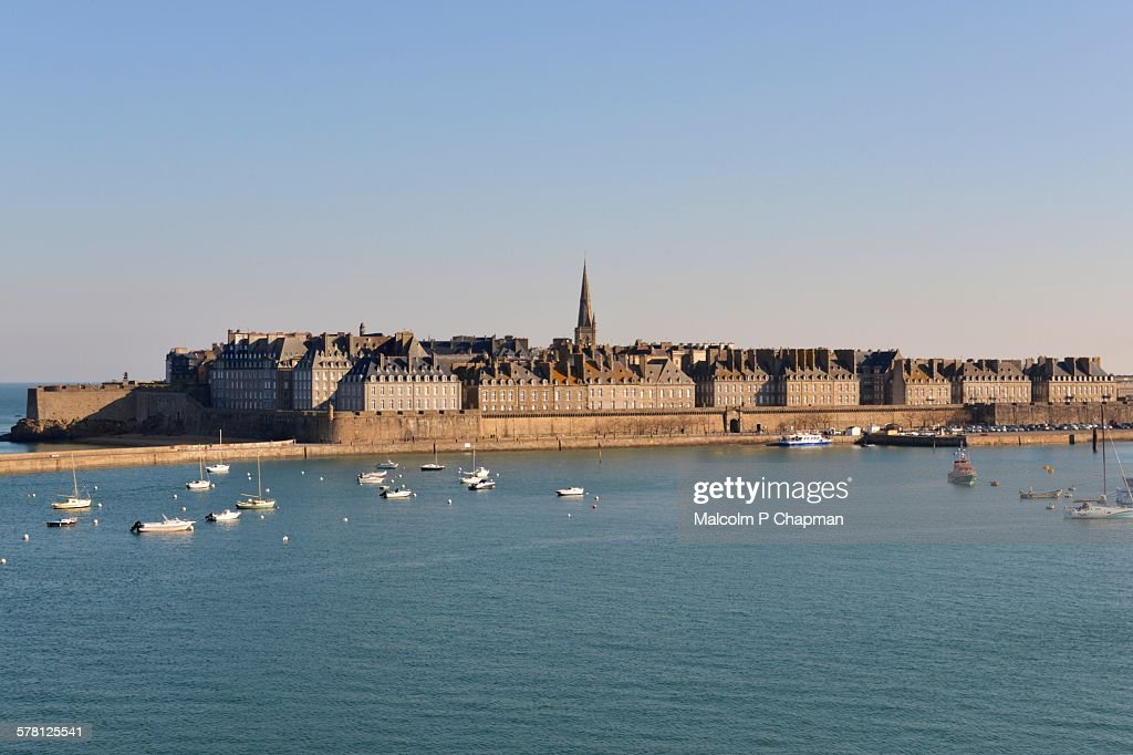 View of the walled city of Saint Malo