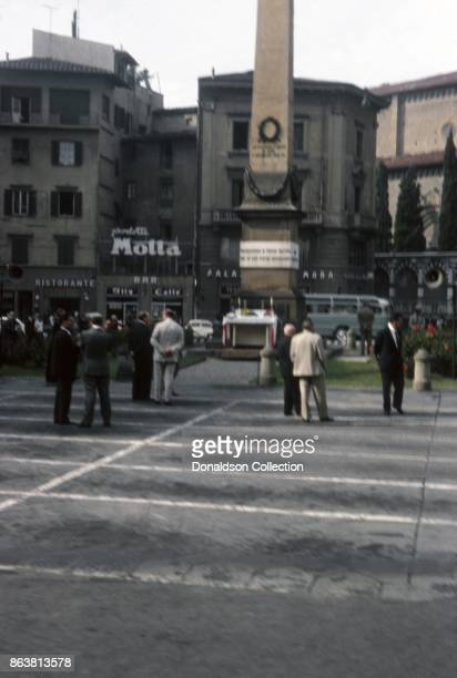 A view of the War Memorial in Unity of Italy Square on September 15 1963 in Florence Italy