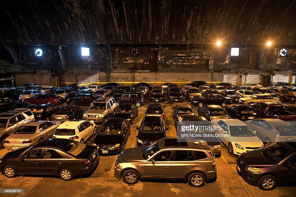A view of the Washington Coliseum, which has hosted the Beatles, an inaugural ball, and boxing matches now serves as a parking lot on January 15, 2014 in Washington, DC. The Beatles performed their first live concert in North America at the Washington Coliseum on February 11, 1964. AFP PHOTO/Brendan SMIALOWSKI