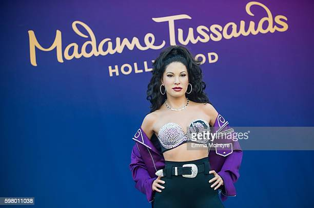 A view of the wax figure of Selena Quintanilla at Madame Tussauds on August 30 2016 in Hollywood California