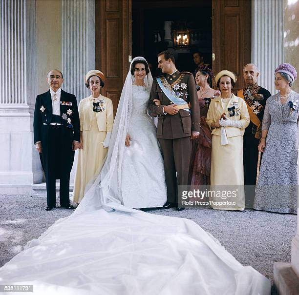 View of the wedding of Prince Juan Carlos future King of Spain and Princess Sofia of Greece and Denmark at the Royal Palace in Athens Greece on 14th...