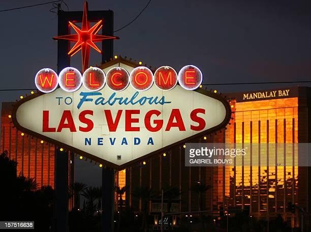 A view of the welcome sign on Las Vegas Boulevard known as 'The Strip' is seen in Las Vegas Nevada 12 November 2006