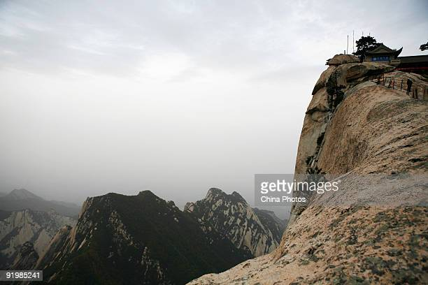 A view of the West Peak on the Huashan Mountain on October 18 2009 in Huayin Shaanxi Province China Huashan located at an altitude of 21549 meters in...