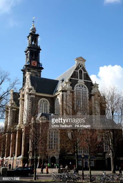 A view of the Westerkerk church next to the Anne Frank house in the centre of Amsterdam Holland PRESS ASSOCIATION Photo Picture date Saturday March...