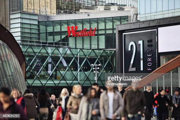 A view of the Westfield Stratford City shopping mall in Stratford East London