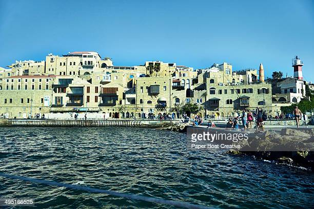 View of the white city of Jaffa Port in Israel