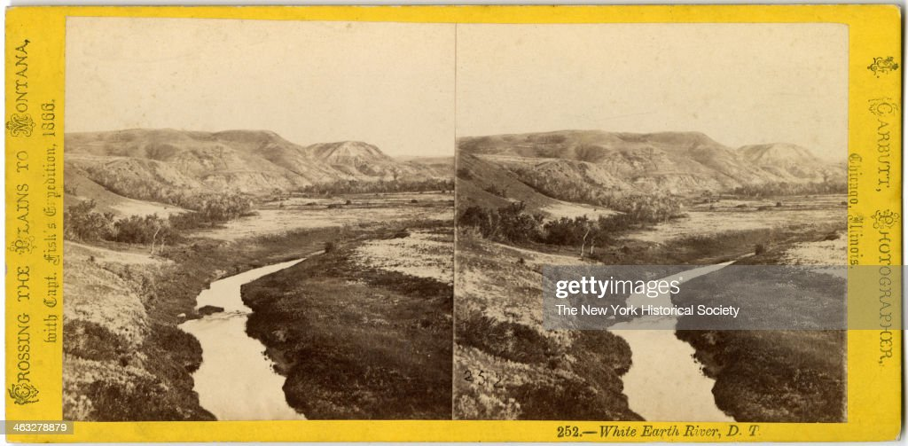 View of the White Earth River Dakota Territory taken while Crossing the Plains to Montana with Captain Fisk's Expedition 1866
