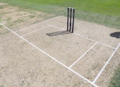View of the wicket during the 3rd NatWest ODI between England and South Africa at The Kia Oval on August 31 2012 in London England