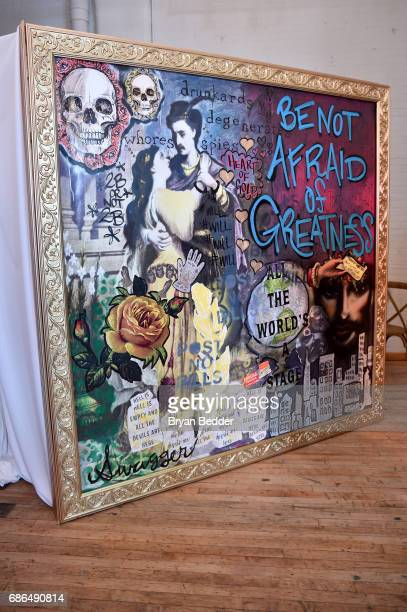A view of the 'Will' mural at TNT's Will Dinner By Toro's Chef Jamie Bissonette presented by TNT'S Supper Club at West Edge on May 21 2017 in New...
