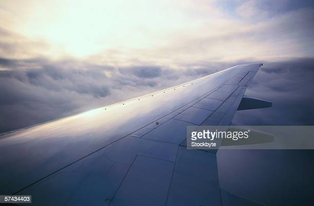 view of the wing of an aircraft in flight