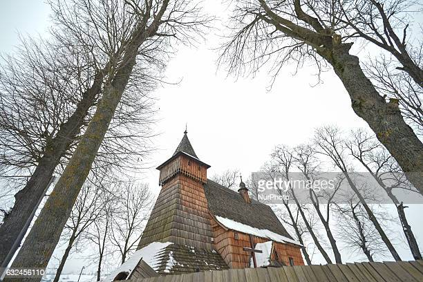 A view of the wooden church of St Michael the Archangel in Debno On Sunday 22 January 2017 in Debno Poland