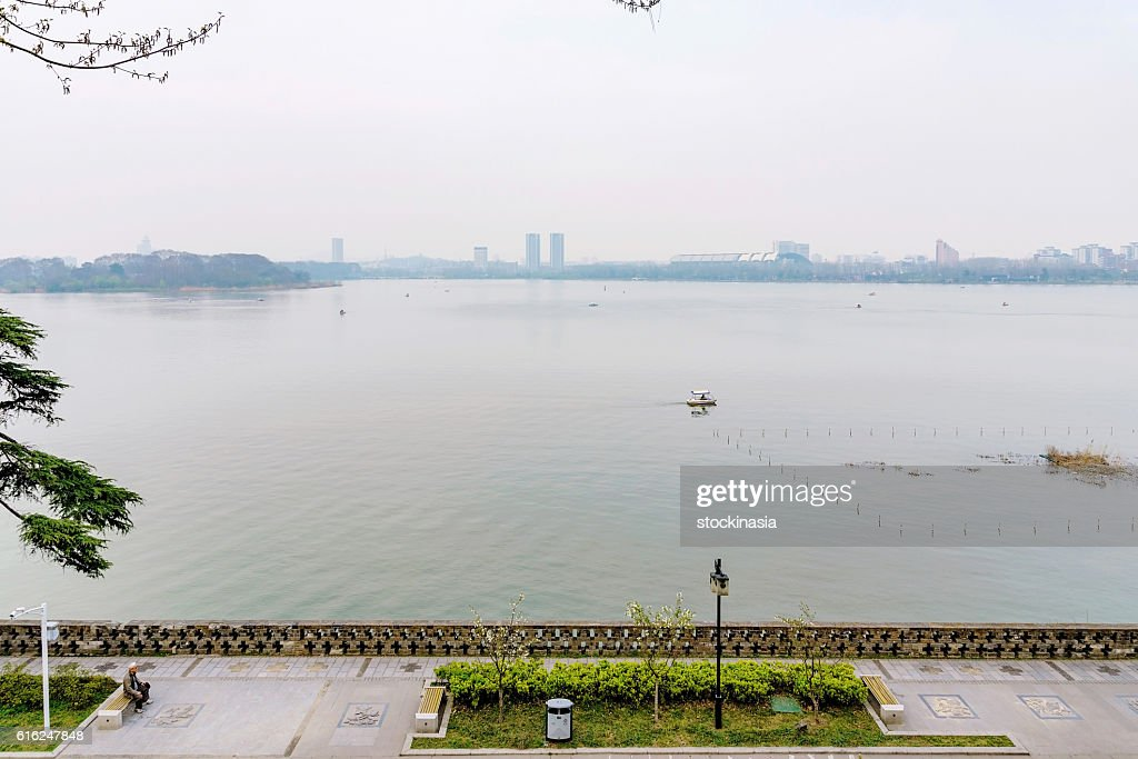 View of the Xuanwu lake : Stock Photo