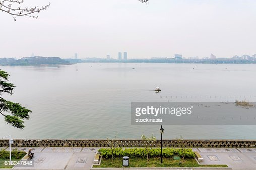 View of the Xuanwu lake : Stock Photo