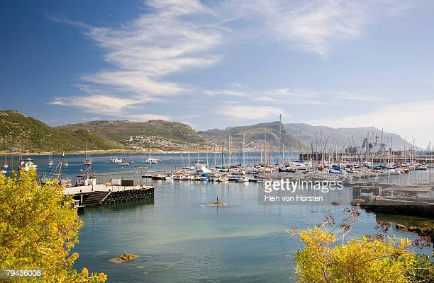View of the Yacht Club at Simons Town waterfront in the Western Cape Province, South Africa