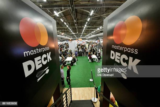 A view of theMasterpass Deck by Mastercard at the Food Network Cooking Channel New York City Wine Food Festival Presented By CocaCola Grand Tasting...