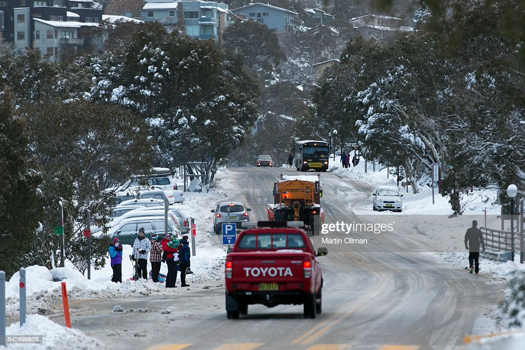 A view of Thredbo village on June 25, 2016 in Thredbo, Australia. Snow has been forecast across Eastern Australia as cold front continues to bring low temperatures, rain and potentially damaging winds.