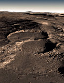 Recent measurements have detected large amounts of water ice in such deposits over widespread areas, arguing for the flow of glacial-like structures on Mars in the relatively recent geologic past. Thi