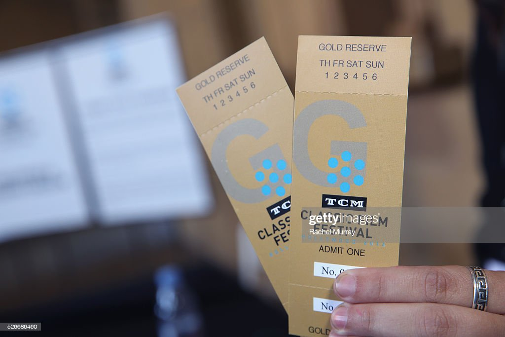 View of tickets is seen during day 3 of the TCM Classic Film Festival 2016 on April 30, 2016 in Los Angeles, California. 25826_007