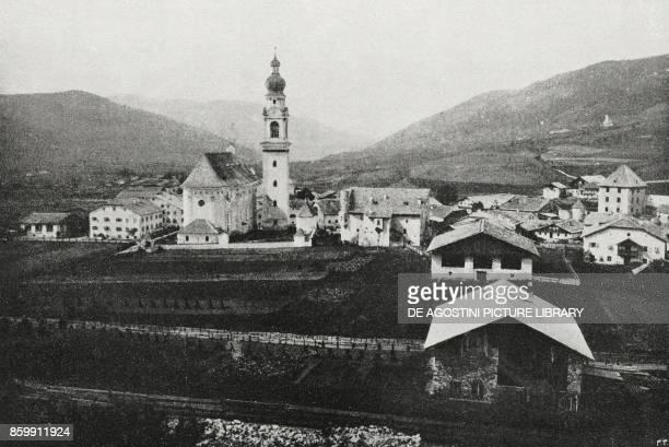 View of Toblach occupied by Italian troops TrentinoAlto Adige Italy World War I from l'Illustrazione Italiana Year XLV No 47 November 24 1918