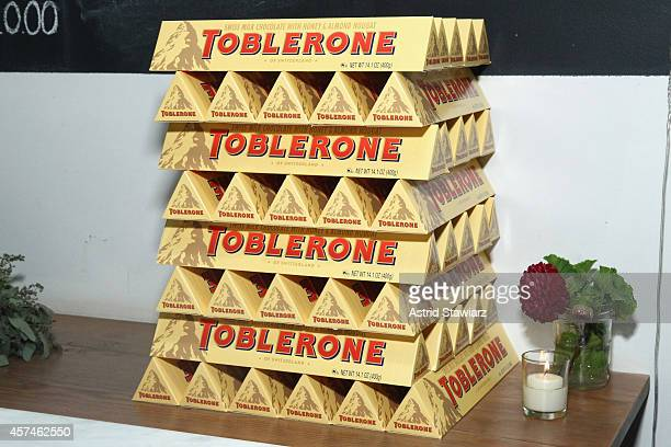 A view of Toblerone chocolate bars at Girl And The Bull A Dinner hosted by Stephanie Izard and Ken Oringer as a part of the Bank of America Dinner...