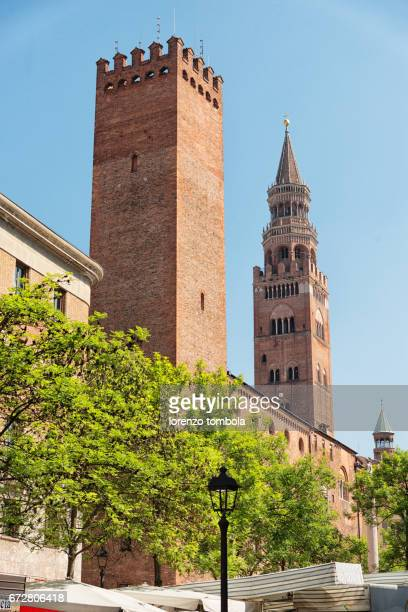 View of Torrazzo bell tower, 13th-14th century,  Cremona