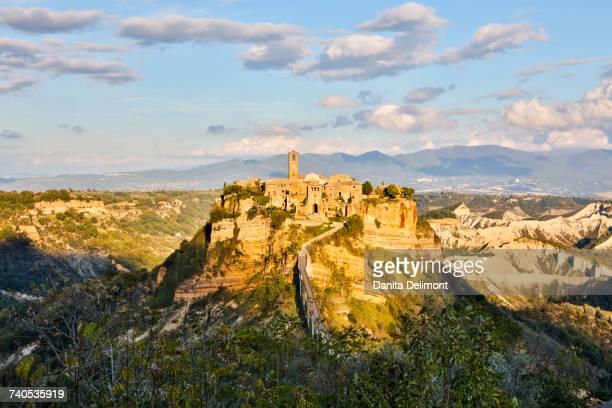 View of town, Civita di Bagnoregio, Viterbo Province, Italy