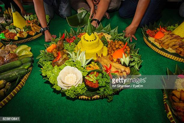 View Of Traditional Thanksgiving Dishes In Indonesia