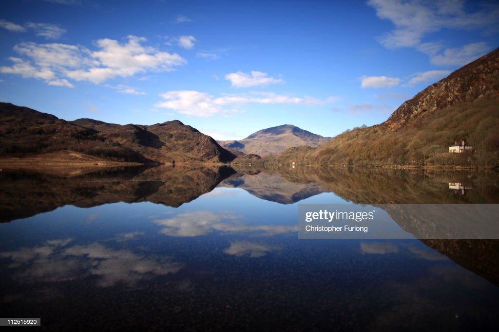 A view of tranquil Llyn Dinas in Snowdonia National Park on March 22 2011 in Bethania Wales The National Trust is launching a GBP1 Million appeal to...