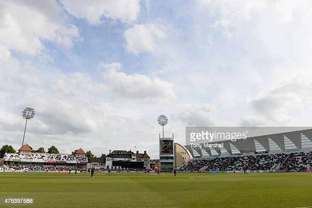 A view of Trent Bridge Cricket Ground during the NatWest T20 Blast between Nottingham Outlaws and Durham Jets at Trent Bridge on May 31 2015 in...