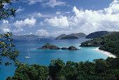 View of Trunk Bay, St. John, US Virgin Islands