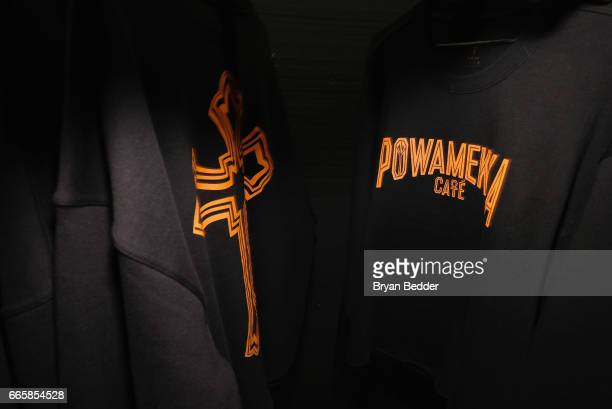 A view of Tupac's Powamekka Cafe and Tupac by Vlone store opening on April 7 2017 in New York City